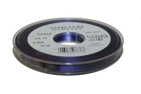 Band Satin 22355/06mm 25m, 052 lila