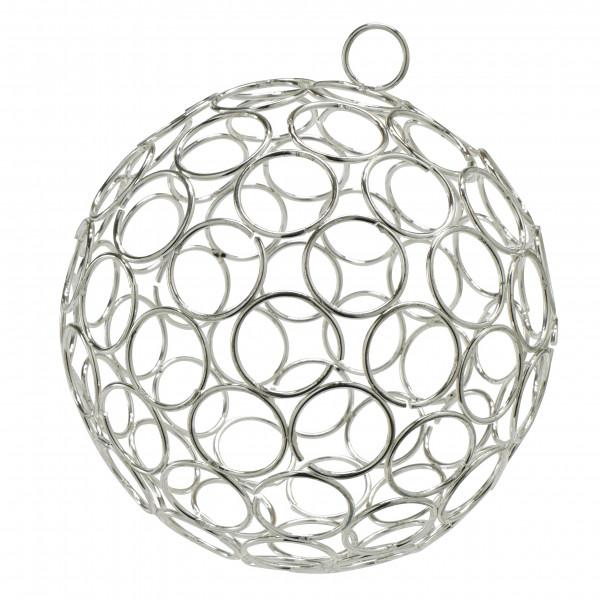 Draht Ball D15cm zum Hängen, silber