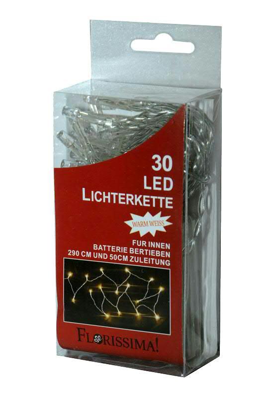 lichterkette 30led 2 9m batterie transparent indoor ww mini lichterketten mit batterie. Black Bedroom Furniture Sets. Home Design Ideas