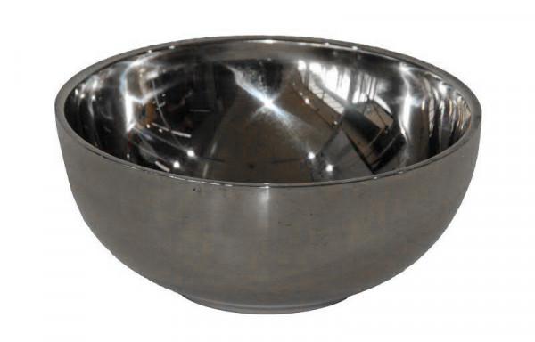 Schale Metall D13,7H6,3cm Stainless, silber