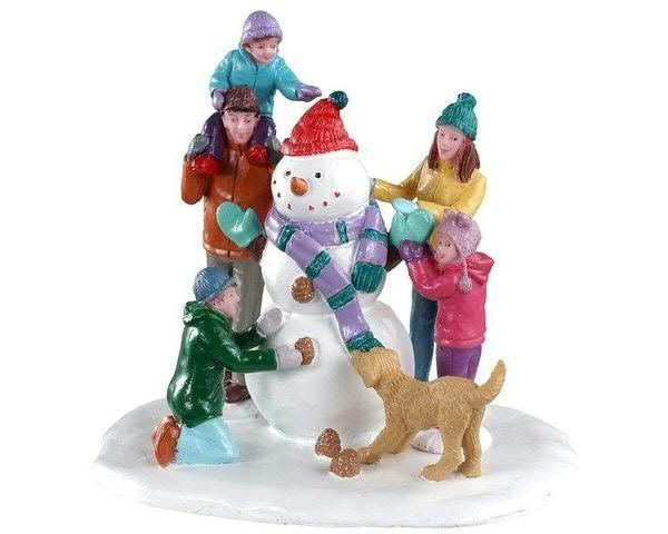 Snowman Teamwork H8,8cm
