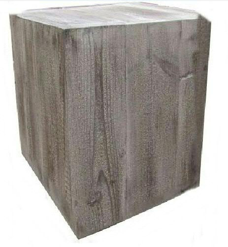 Säule Holz 30x39x39cm leicht, old pine