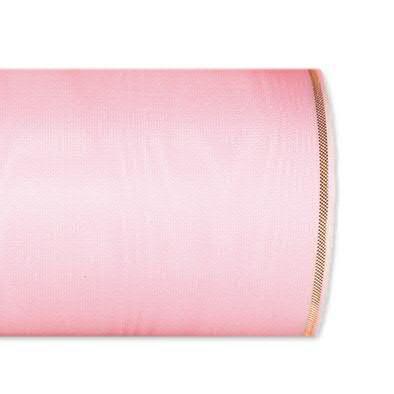 Kranzband 4422/125mm 25m Moire Goldrand, 224 rosa