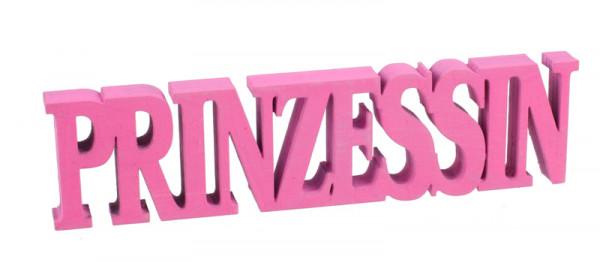Buchstaben Holz SP 13,5x3,5cm Prinzess, pink