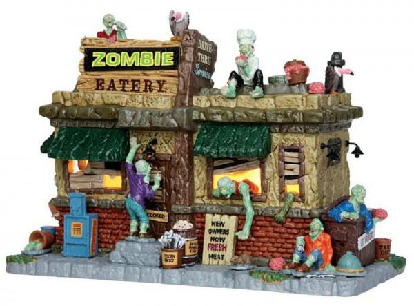 Halloween Zombie Eatery LED 22,2x15,8 beleuchtet, Batteriebetrieben