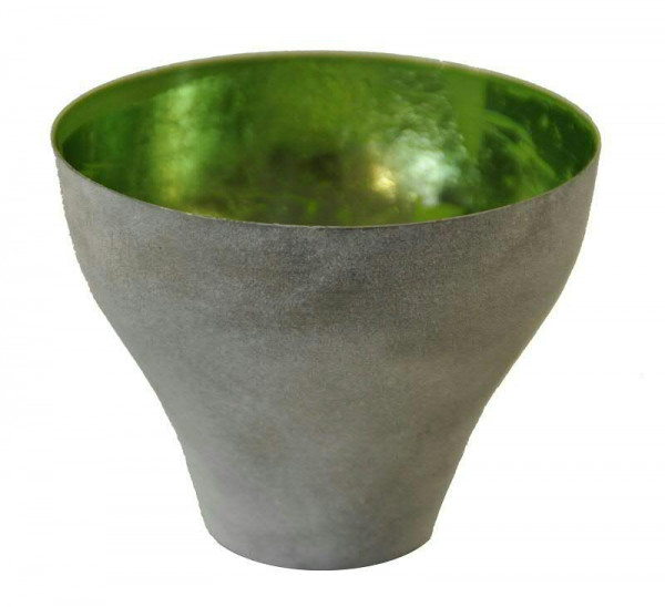 Teelicht Metall 2St. SP D12,5H10cm, grau/grün