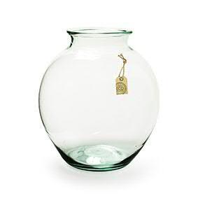 Glas Vase H37D32,5cm, klar