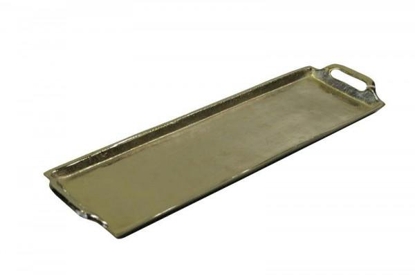 Tablett Alu antik 44x13x3cm, silber