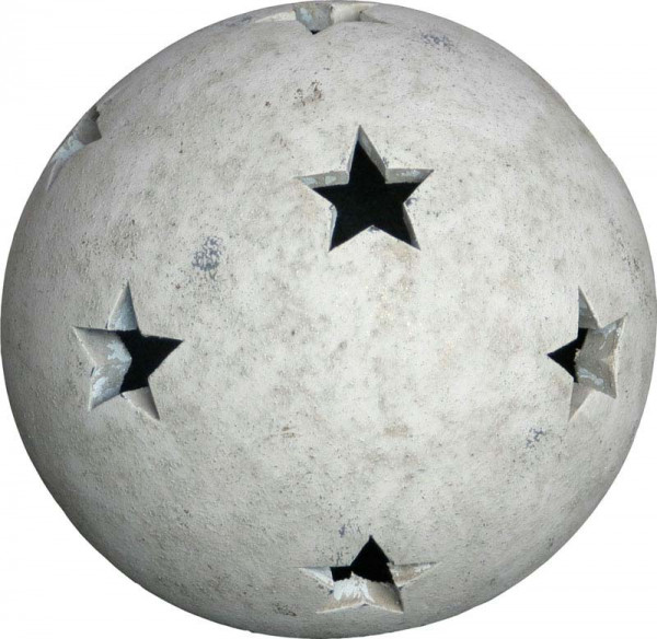 Kugel TC182 D22cm m.Sternen, tw-beige