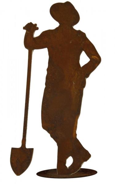 Rost Gärtner m.Schaufel H30cm a.Platte