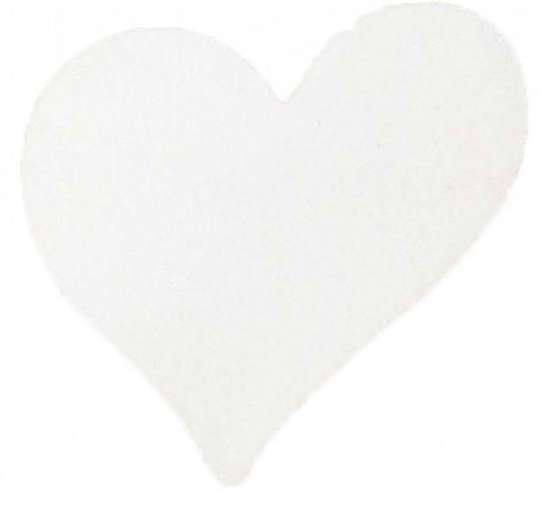 Herz Holz 7,5cm 6St.m.Clip, weiß