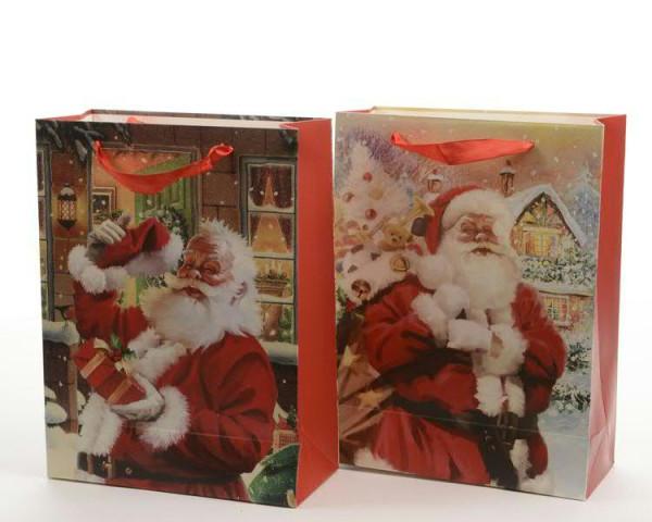 Tasche Papier 72x50x18cm 2sort., Santa