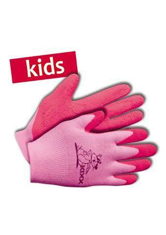 Kinderhandschuhe Gr.04 Nylon/Latex, rosa