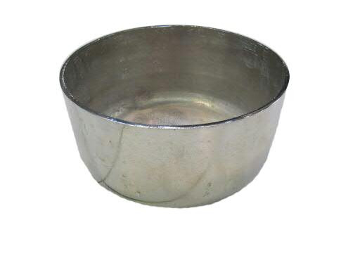 Schale Alu antik D27H13cm rund, silber