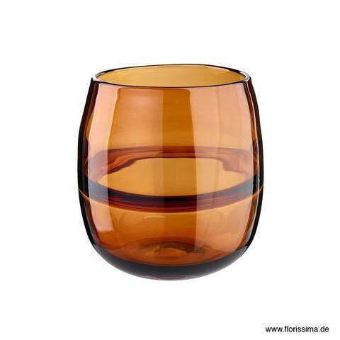 Glas Vase D14H15cm, amber