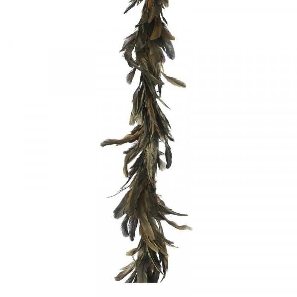 Girlande Federn L160B16cm, gold