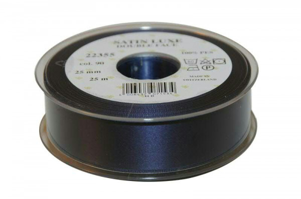 Band Satin 22355/25mm 25m, 090 d.blau