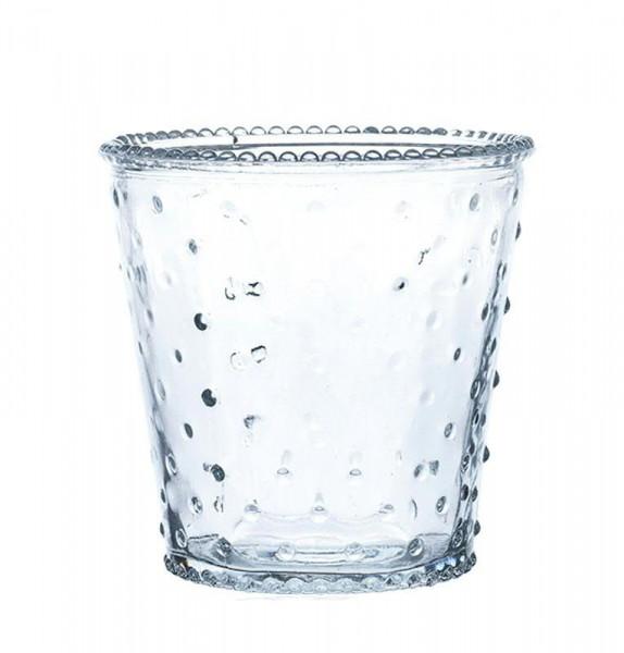 Glas Vase H12D12cm konisch, klar