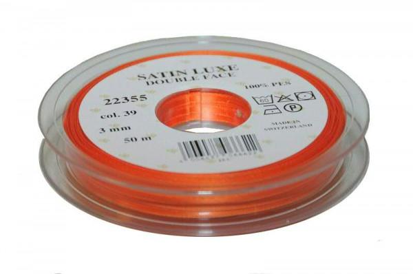 Band Satin 22355/03mm 50m, 039 orange