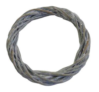 Weiden Kranz D25H3,5cm, weiß wash