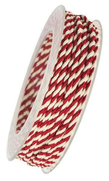 Kordel 5100/3mm 25m, rot/weiß