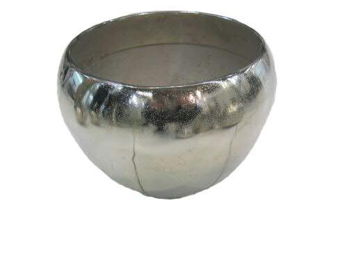 Kübel Alu antik D19H15cm rund, silber