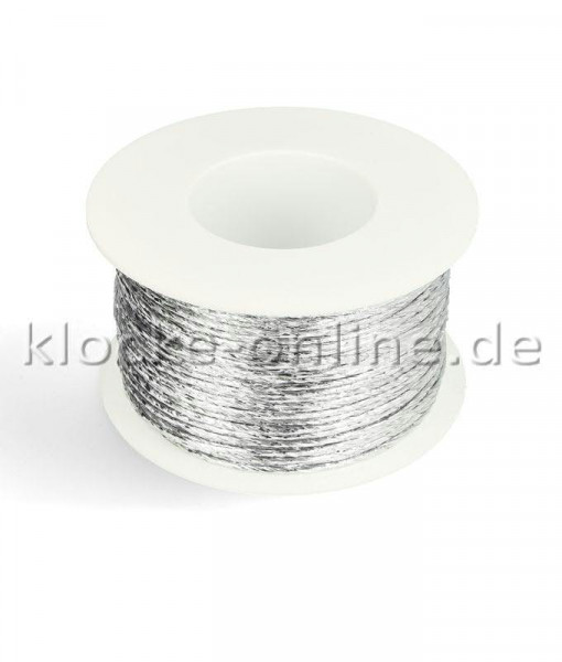 Papierdraht metallic 2mm 100m, silber