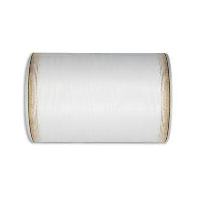 Kranzband 6693/175mm 25m Moire Goldrand, 611 weiß