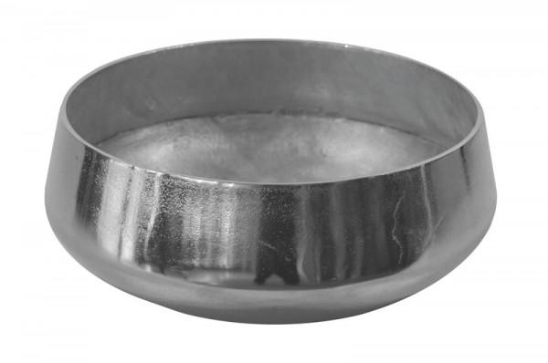 Schale Alu antik D42cm, silber