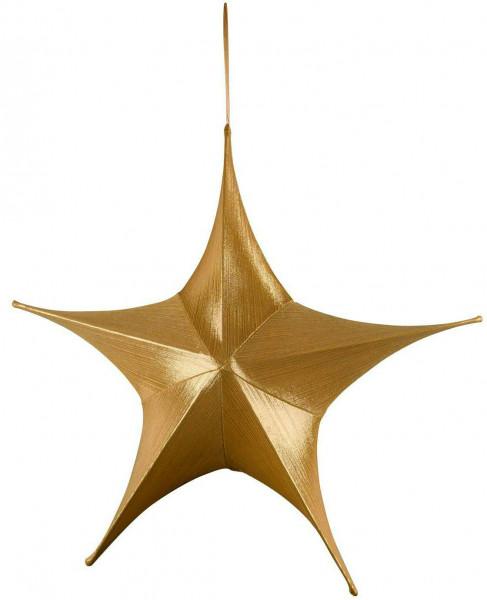 Stern Stoff D80cm, gold
