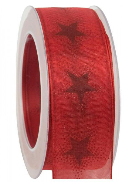 Band 364a/40mm 20m Sterne, 20 rot