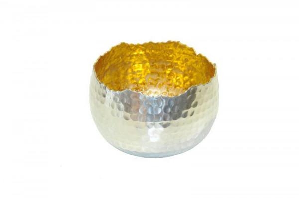 Sphärenlicht Alu 13x9cm, silb.gold