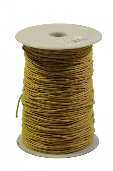 Kordel 1117/1,5mm 200m Wax cord, 51 ocker