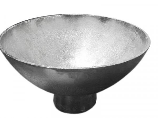 Schale Alu antik D28H15cm a.Fuß, silber