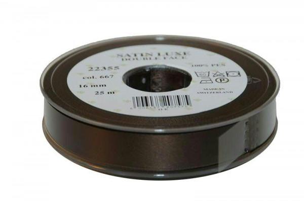 Band Satin 22355/16mm 25m, 667 d.brau