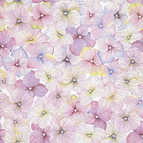 Servietten Blüten 33cm 20 Stück, rose
