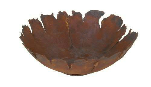 Rost Schale D45cm mit Rissen