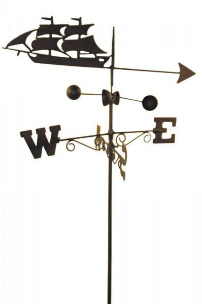 Gartenstecker B50L170cm Windrichtung Schiff, rost