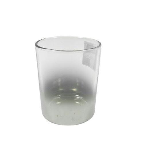 Glas Teelicht D7H8,5cm, silb/klar