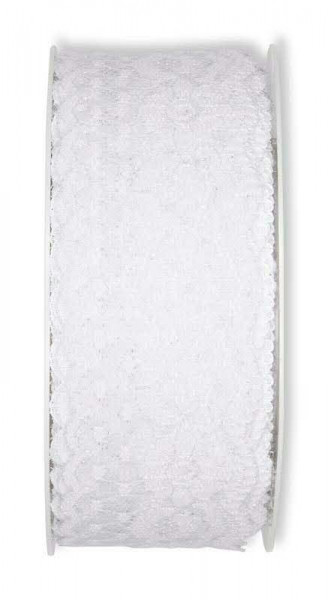 Spitze 2012/37mm 15m, 11 weiß