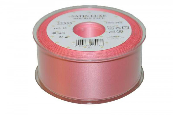 Band Satin 22355/40mm 25m, 015 rosa