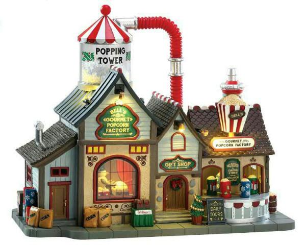 Bell´s Gourmet Popcorn Factory 29,5x25 animiert Sound & Beleuchtung 4,5V