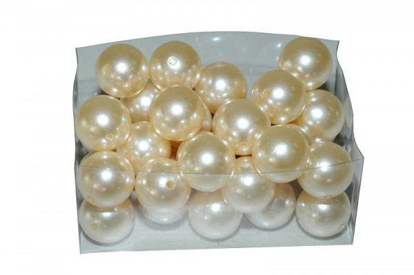 Perlen 30mm 500g, creme