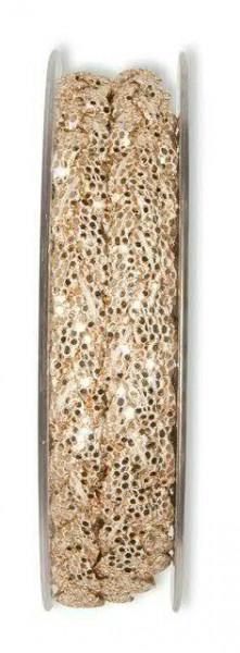 Band 24014/8mm 5m Glitter, 323 rosego