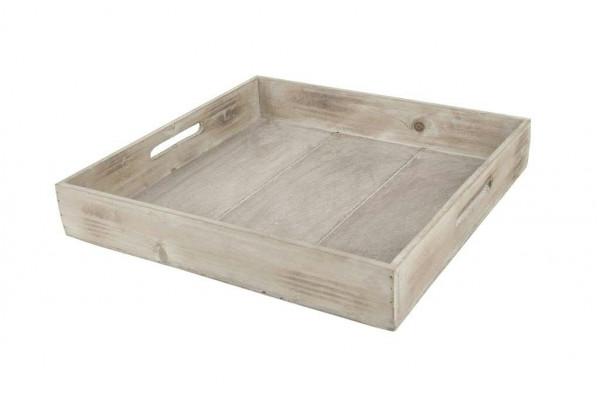 Tablett Holz 38x38x6cm, braun