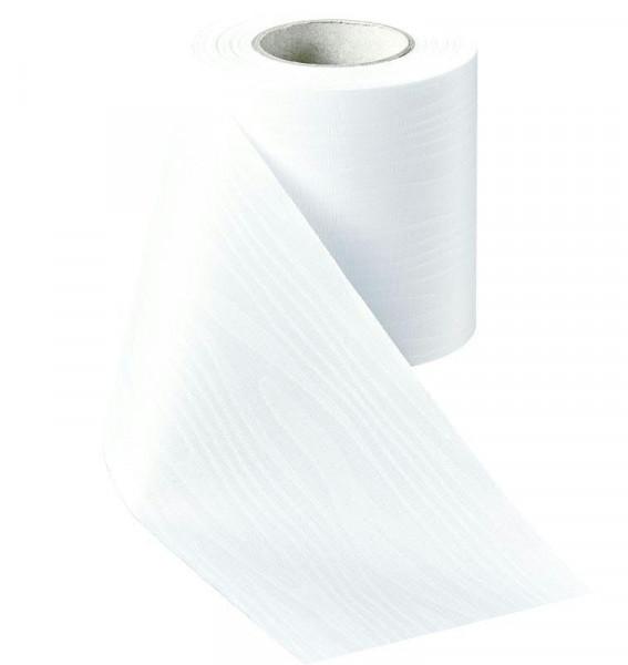 Kranzband 01000/150mm 25m Moire, 001 weiß