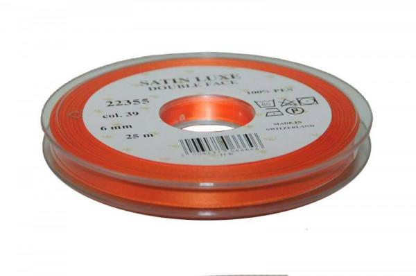 Band Satin 22355/06mm 25m, 039 orange