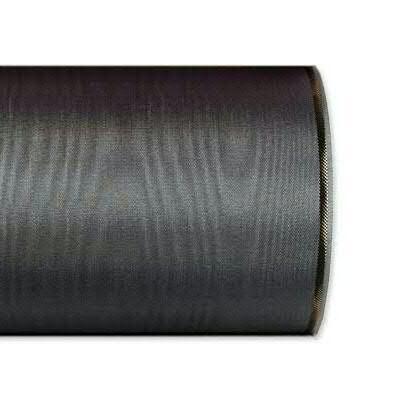Kranzband 4422/075mm 25m Moire Goldrand, 200 d.grau