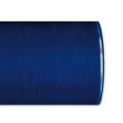 Kranzband 4422/075mm 25m Moire Silberrand, 231 d.blau