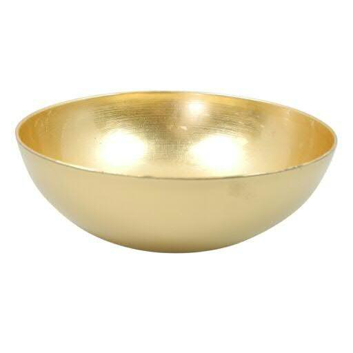 Schale Kunststoff D37H10,5cm rund außen matt, gold